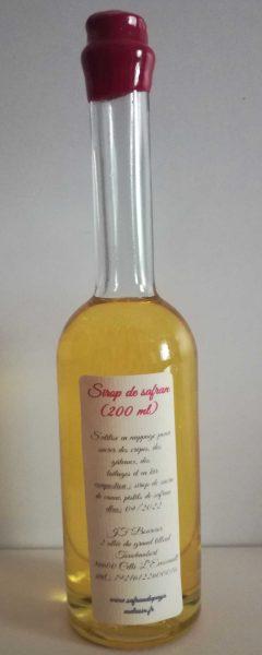 Sirop de safran (200 ml)